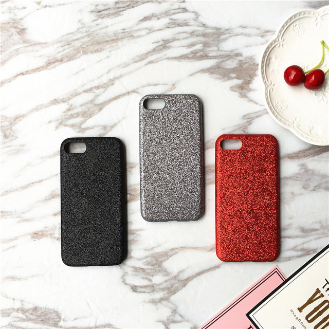 reputable site e64dc fe309 US $1.76 46% OFF|Luxury Bling Glitter Christmas Case for iPhone 7 7 Plus  Cute Girly Phone Cases for iPhone X for iPhone 6 6S 8 Plus Cover Gift-in ...
