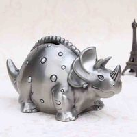 2016 Special offer Metal Animals Home Decoration Birthday Gifts Retro dinosaur Stegosaurus Piggy Bank Coins Metal box Gift Ideas