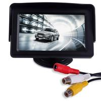 HD TFT LCD Mini Car Rear View Monitor 4 3 Inch Auto Parking Rearview Monitor Screen