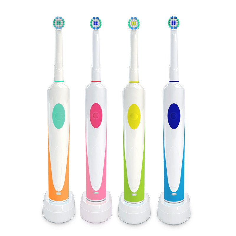 Rotary Type Electric Sonic Toothbrush For Oral Teeth Cleaning Rechargeable Tooth Brush Induction Charging With 2 Brush Heads B image