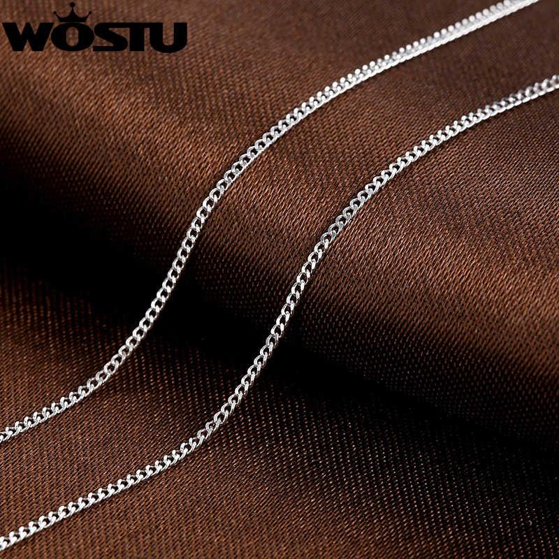Gorąca sprzedaż 925 srebro Link łańcuchy naszyjniki nadające się do wisiorek urok dla kobiet mężczyzn luksusowe S925 biżuteria prezent SCA006