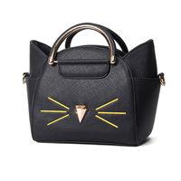 New Women Handbag Fashion Cat Costume Shopper Bag Mini Purse Blue Black Pu Leather Handbag Fashion