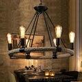 País da américa restaurante pingente lâmpada luzes fio de ferro forjado retro droplight luz ysld97-6 free grátis