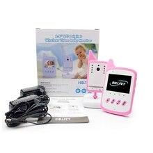 Новый bebek telsizi 2.4 дюймов ЖК-ИК Ночного видения Колыбельные 2 способ говорить 3 цвета Температура монитор младенца камера радио няня