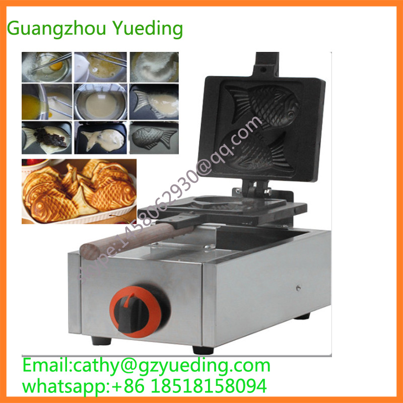 small size economical stainless steel 2pcs production LPG gas taiyaki machine/ korea fish waffle maker fast food leisure fast food equipment stainless steel gas fryer 3l spanish churro maker machine