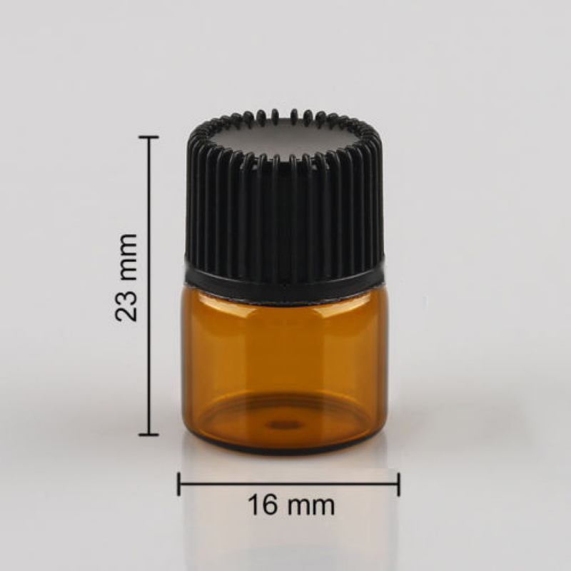Mayitr 100pcs Mini Empty Essential Oil Bottle Amber Glass Bottle For Oil Perfume 1ml Refillable Bottles 1000mg 100 pcs fish oil bottle for health capsules omega 3 dha epa with free shipping