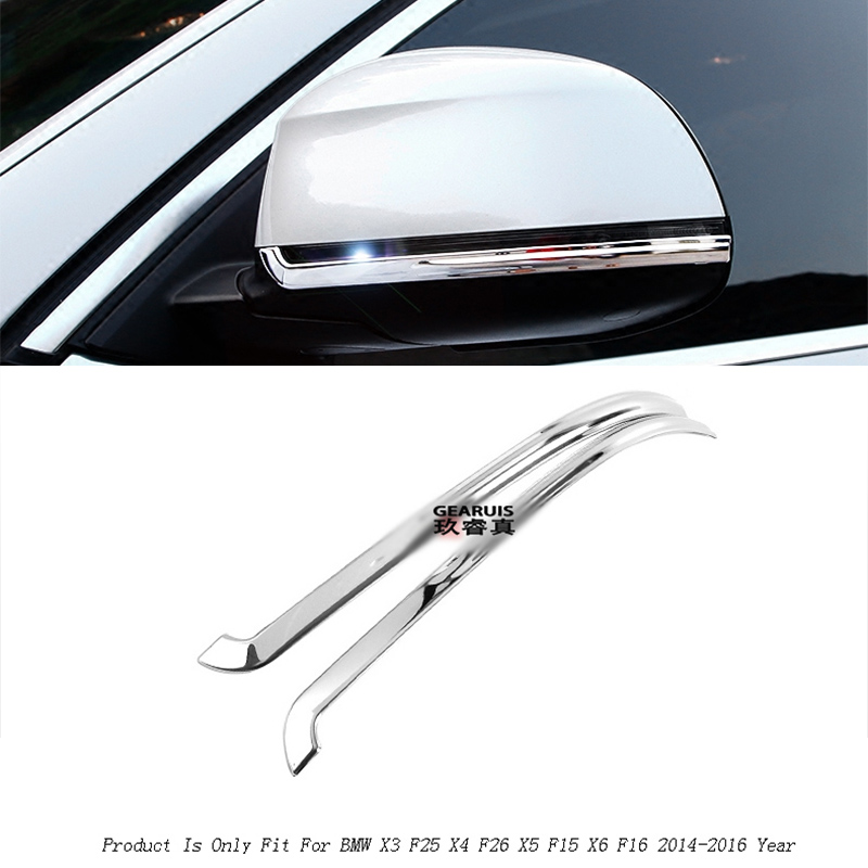 Car styling rearview mirror decoration trims Cover protector gas Stickers for BMW X3 F25 X4 F26 X5 F15 X6 F16 5/7 series f10 f07