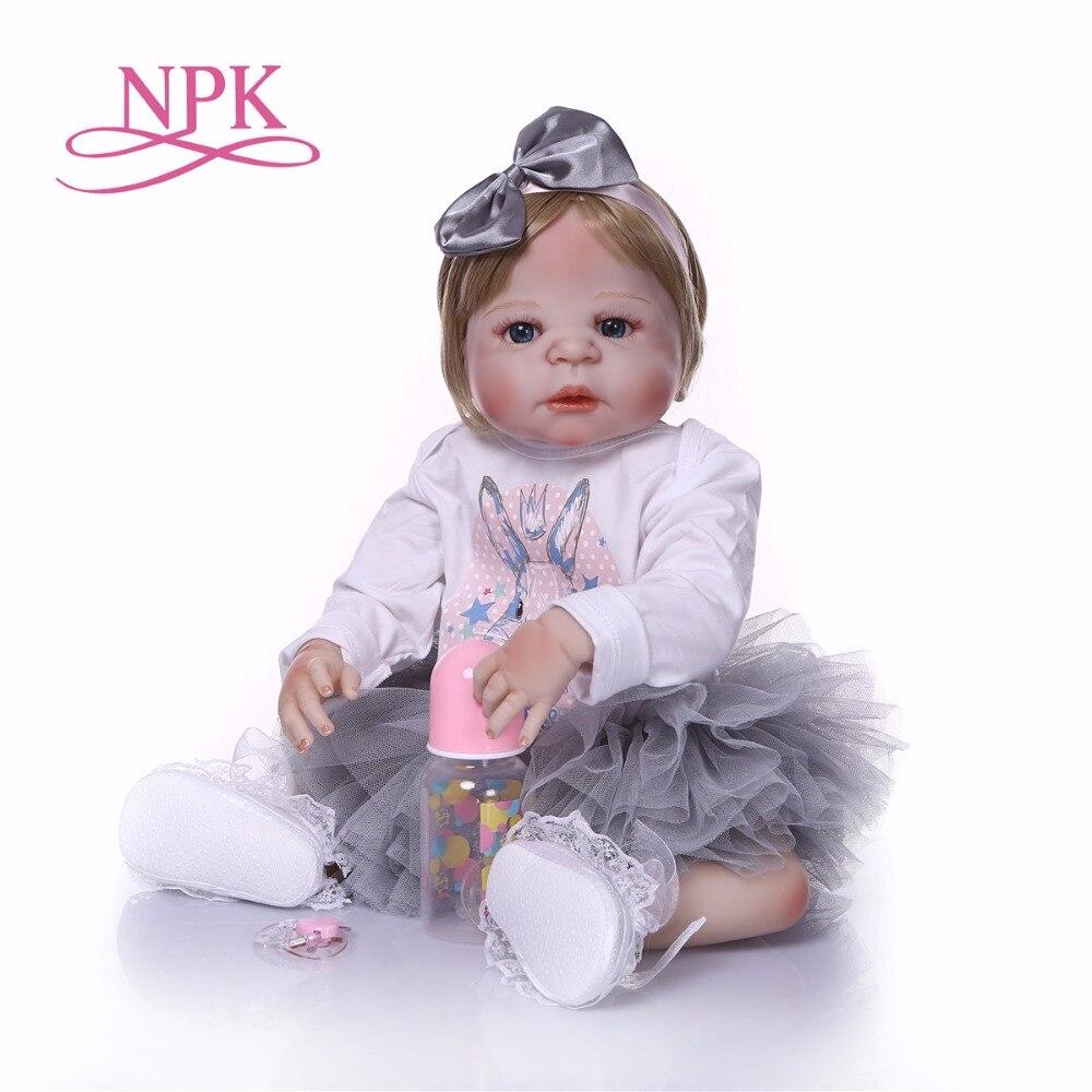 NPK Boneca Reborn moderne Voll Vinyl Reborn Baby Puppe Spielzeug Lebensechte Kind Geburtstag Weihnachten Geschenk HEIßER SPIELZEUG für mädchen-in Puppen aus Spielzeug und Hobbys bei  Gruppe 3