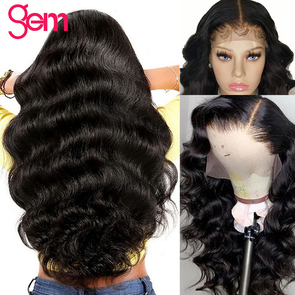 Body Wave Wig Lace Front Human Hair Wigs Pre Plucked with Baby Hair For Black Women