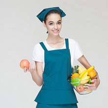 Chef waiter food cook kitchen cake coffee restaurant working clothes uniform clothing jacket workwear apron cap scarf pants 005