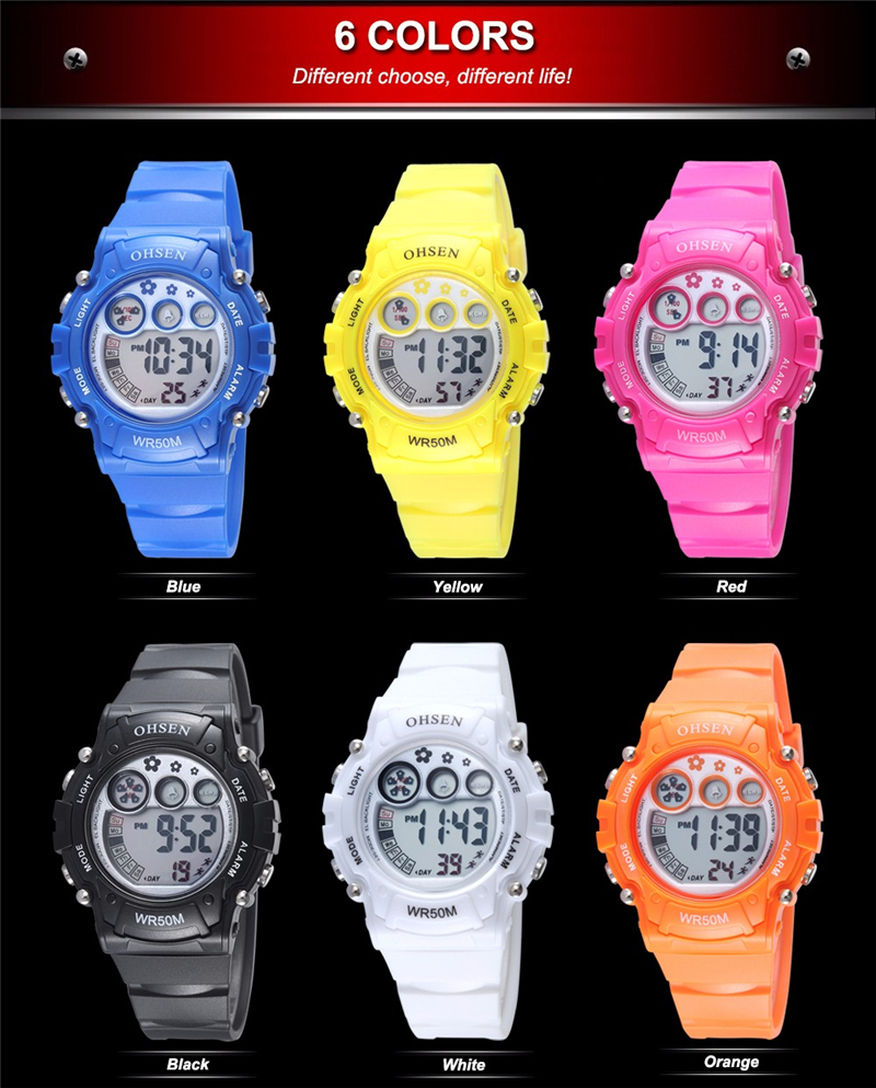 New Ohsen Unisex Watch Fashion Casual Watches Relogio Masculino Students Sports For Men Women Water Resistant Alarm Wristwatches (45)