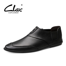 CLAX Mens Shoes Genuine Leather 2019 Summer Mans Shoe Loafers Male Moccasins Breathable Casual Footwear