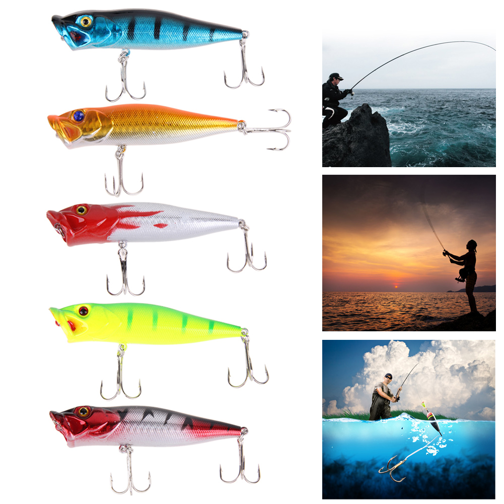 1 pcs Big Popper Fishing Lures 3d Eyes Bait Crankbait Wobblers Tackle Isca Poper Japan 5 Colors fishing lures big hard lure popper wobblers fishing tackle 3d eyes abs bait crankbait isca with hooks 10 colors 1pcs