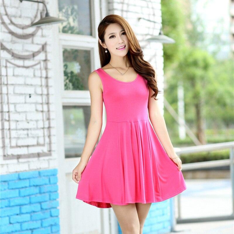 Del Color del caramelo niñas vestido de verano. elegantes vestidos ...
