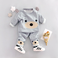 2017 Spring New Baby Boys Clothing Set Cotton Material O Neck Full Sleeve High Quality Baby