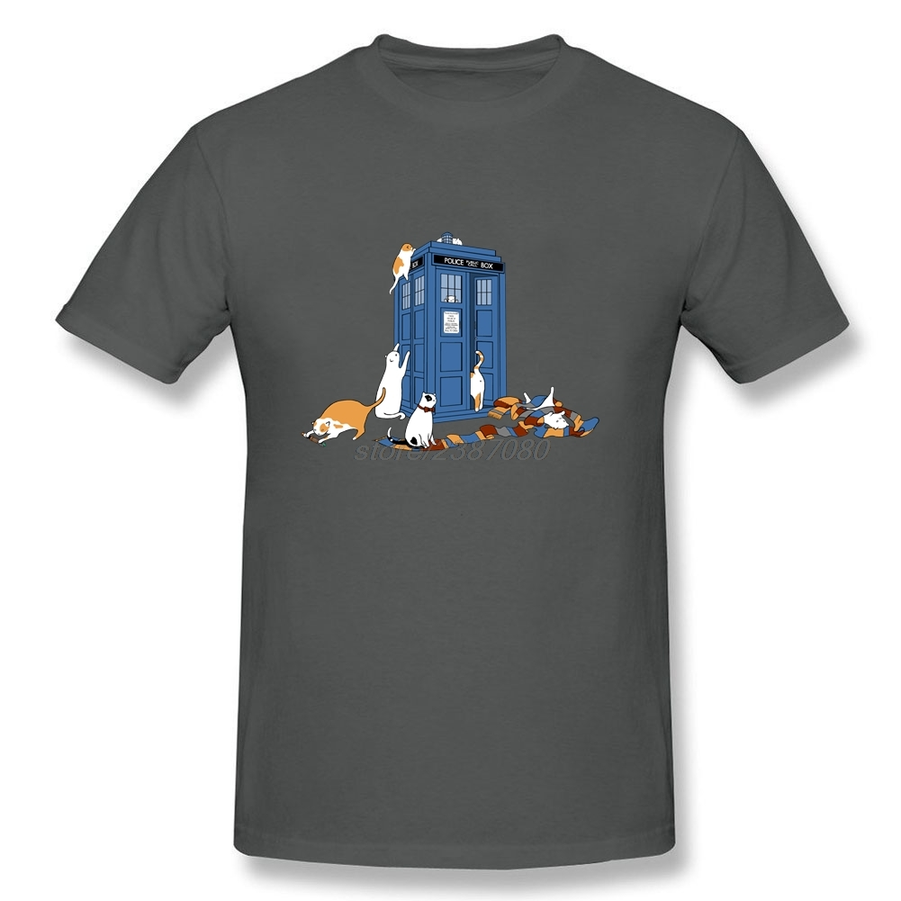 Comfortable Cool Tees Hombre Time Travellers Short Sleeve Tee O Neck Doctor Who DR WHO Men Funny Geek T Shirts