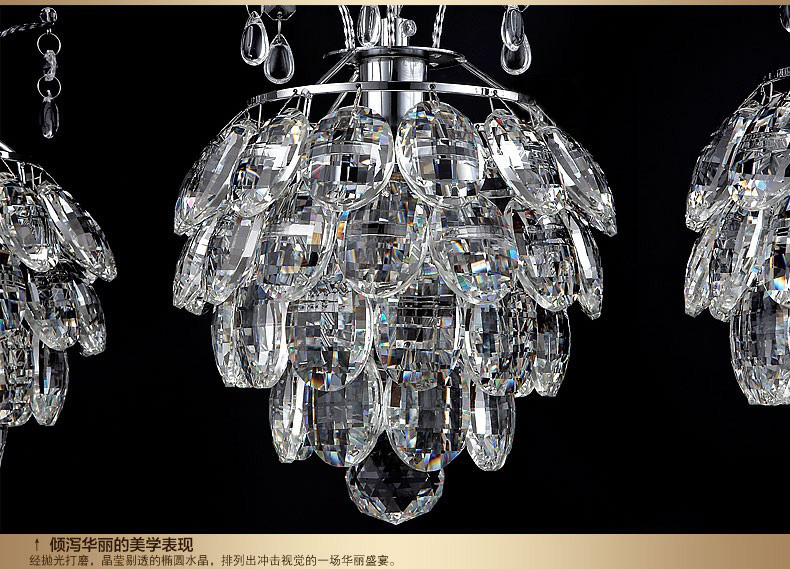2015 new arrival Kitchen crystal pendant lamp dining room luxury ...