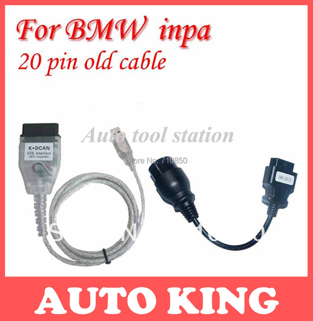 Free gift of the 20pin Connector!!For INPA K+DCAN Best with FT232RL chip !! forbmw inpa with obd cables ----free shipping!