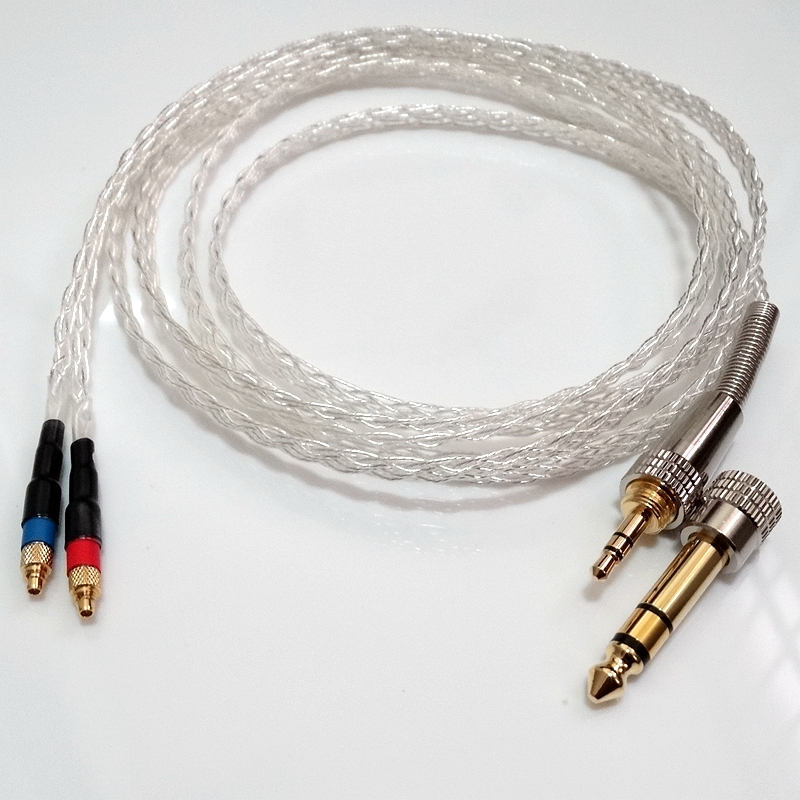 2Meter 8 core 5N OCC Flat braid Silver plated Headphone Upgrade Cable For SRH1840 SRH1540 SRH1440