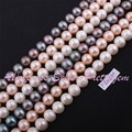 """7-8mm Natural Freshwater Pearl Round Gem Stone Beads Strand 14"""" For DIY Necklace Bracelat Jewelry Making,Wholesale Free Shipping"""