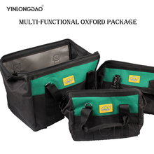 Portable Tool Storage Bag Thick Canvas Multi-function Large Capacityelectrician Special Maintenance Shoulder Kit  Free Shipping