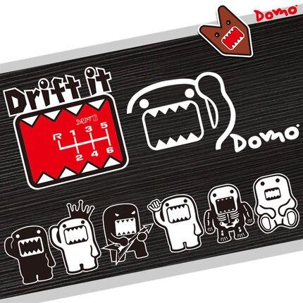 Noizzy Domo Kun Drôle Autocollant De Voiture de Bande Dessinée Automatique du Décalque Drift mignon Vitesse Vinyle Réfléchissant Noir Blanc Corps Fenêtre Tuning De Voiture style