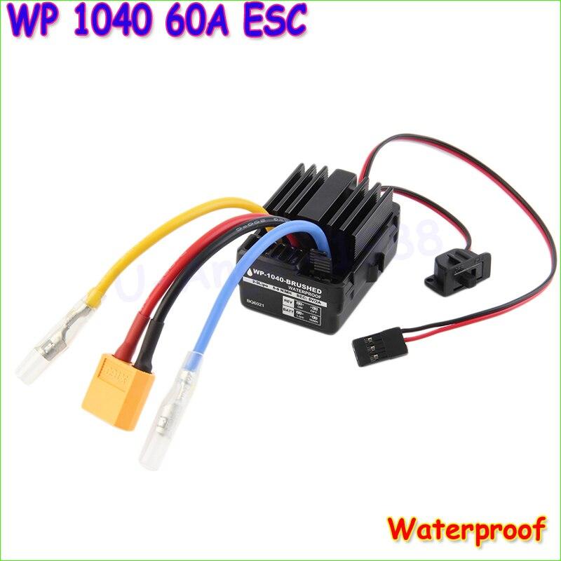 Großhandel WP 1040 60A Waterproof Brushed ESC Controller für Rc Auto Motor