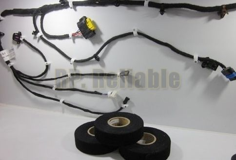 Car Using, 10 rolls (19mm*15M) Black lint Tape for Car Meter Motor Harness Cable Wind Wire Wrap Fasten Insulation Protect
