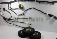 Car Using 10 Rolls 19mm 15M Black Lint Tape For Car Meter Motor Harness Cable Wind