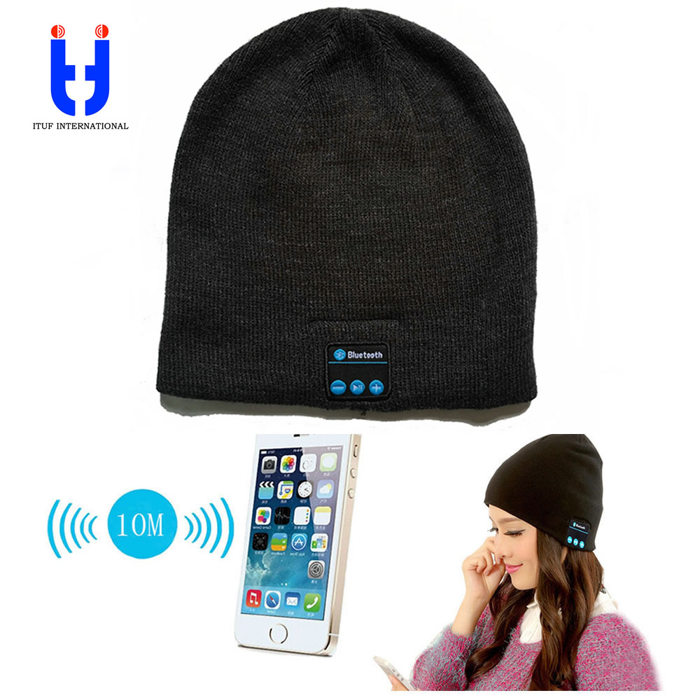Hot Men Women Bluetooth Music Hats Wireless Beanie Hat Headphone Headset Speaker Mini Wireless Audio Cap Exquisite Packaging wireless bluetooth speaker led audio portable mini subwoofer