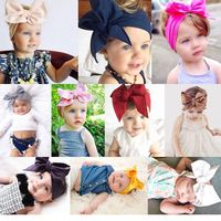 10Pcs Cute Kids Girl Baby Toddler Bow Headband Hair Band Accessories Headwear