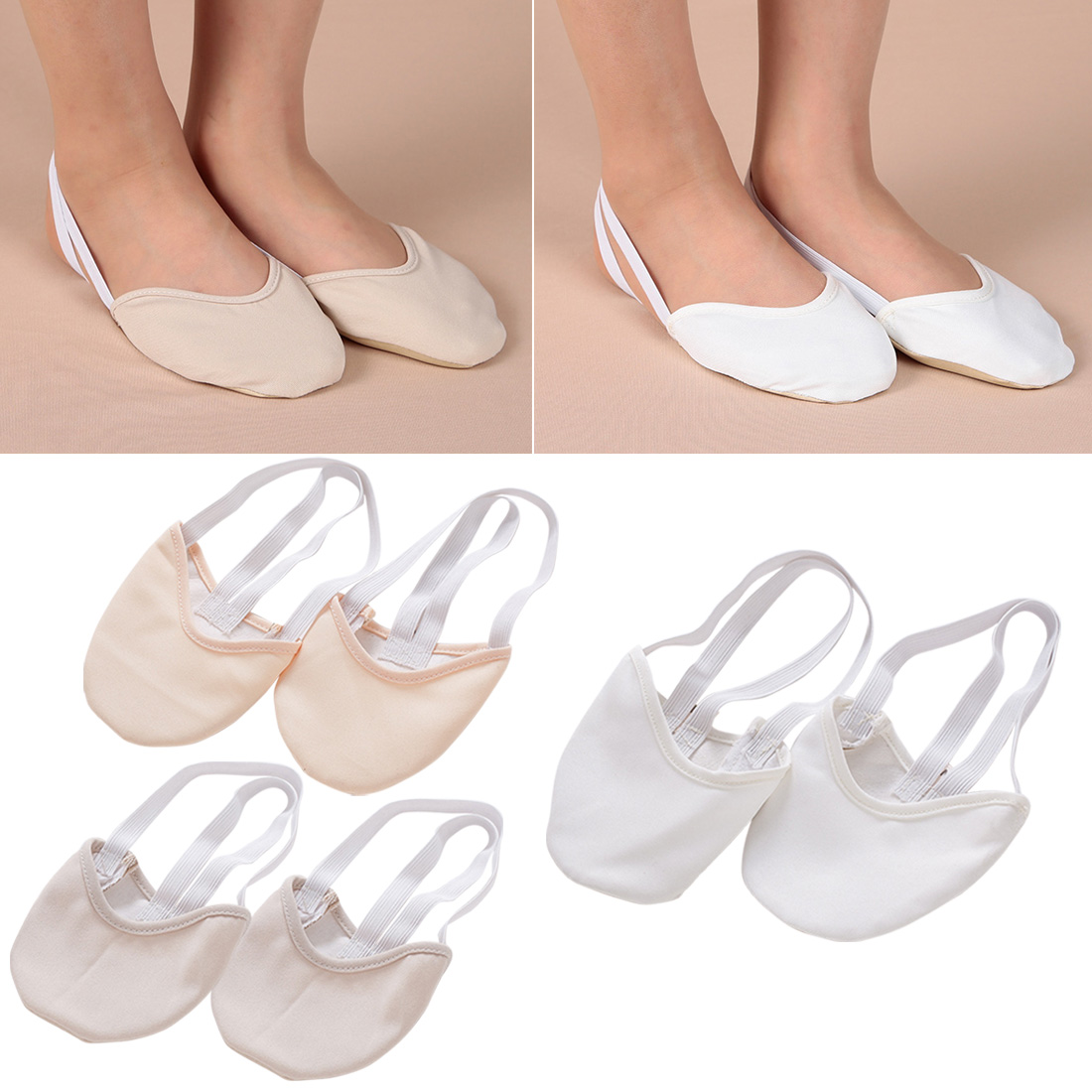 Half Length Rhythmic Gymnastic Shoes Roupa Ginastica Child Adult Gymnastics Pig Skin Sole Shoes Beige Dancing Dance
