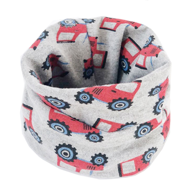 2019 New Children's Cotton Scarf Baby Kids Scarf Boys Girls Cartoon Scarves Child Collar Spring Autumn O Ring Magic Neckerchief