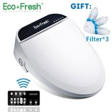 Ecofresh Smart toilet seat Washlet Elongate Electric Bidet cover heat sits led
