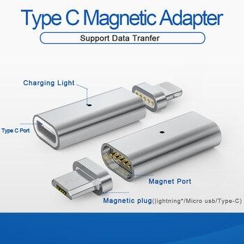 GARAS Тип-C на Micro/для IPhone Магнитный адаптер для IPhone/Android 3in 1 кабель для передачи данных конвертер адаптер Тип C на Micro USB C