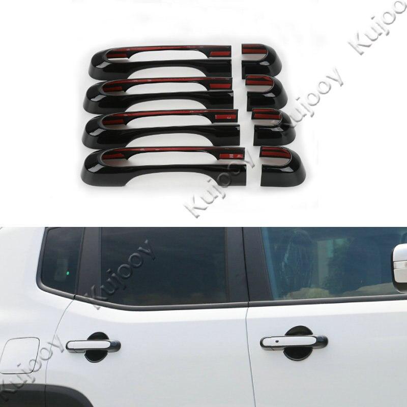 8pcs 8 color Front Rear 4 Door Exterior Handle Trims Covers Frame ...