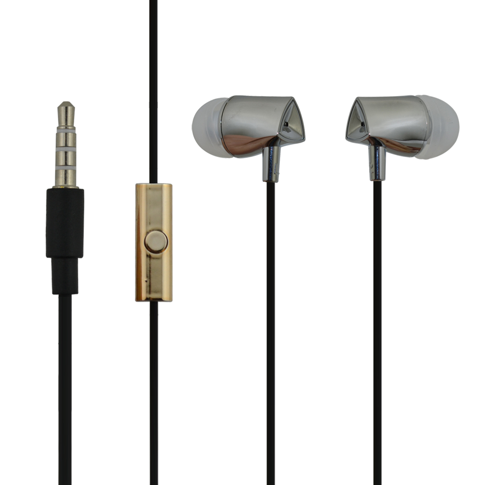 qijiagu 10PCS High Quality 1.2m Wired In-Ear Music Earphones for Smartphones with Microphone