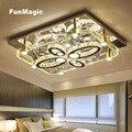 Современные прямоугольные роскошные светодиодные потолочные светильники для гостиной  спальни  потолочные светильники  светодиодные ламп...