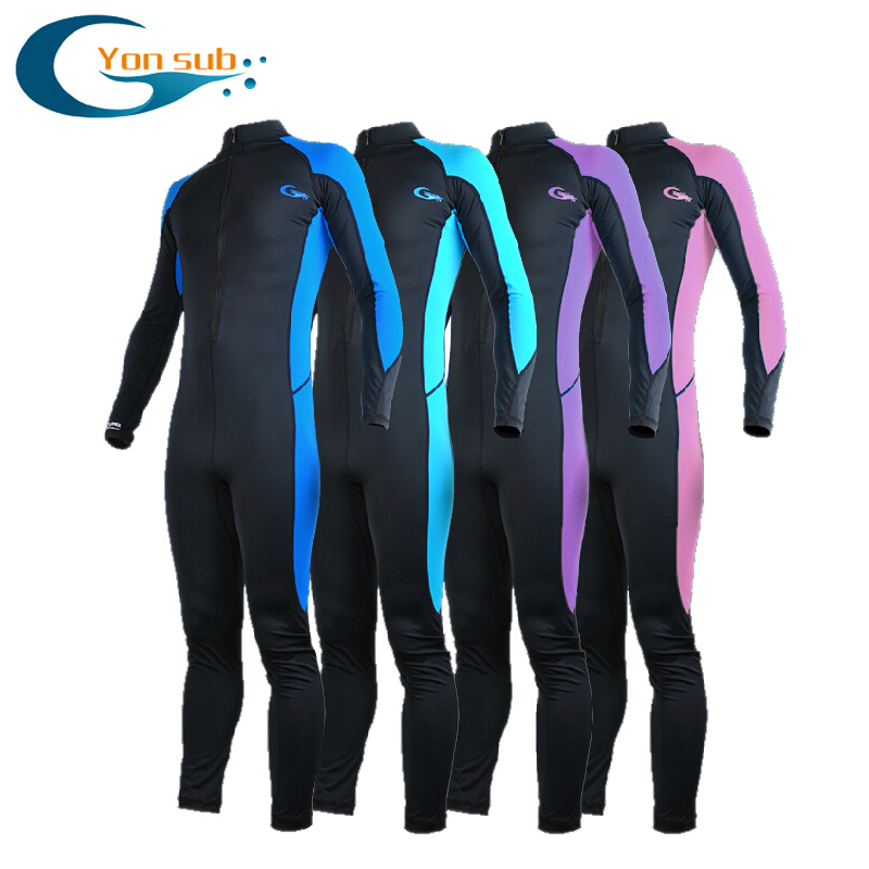 Lycra Scuba Long Sleeve Wetsuit Man & Women One Pieces Snorkeling Equipment Prevent Jellyfish Swimwear Wetsuit Three Colors