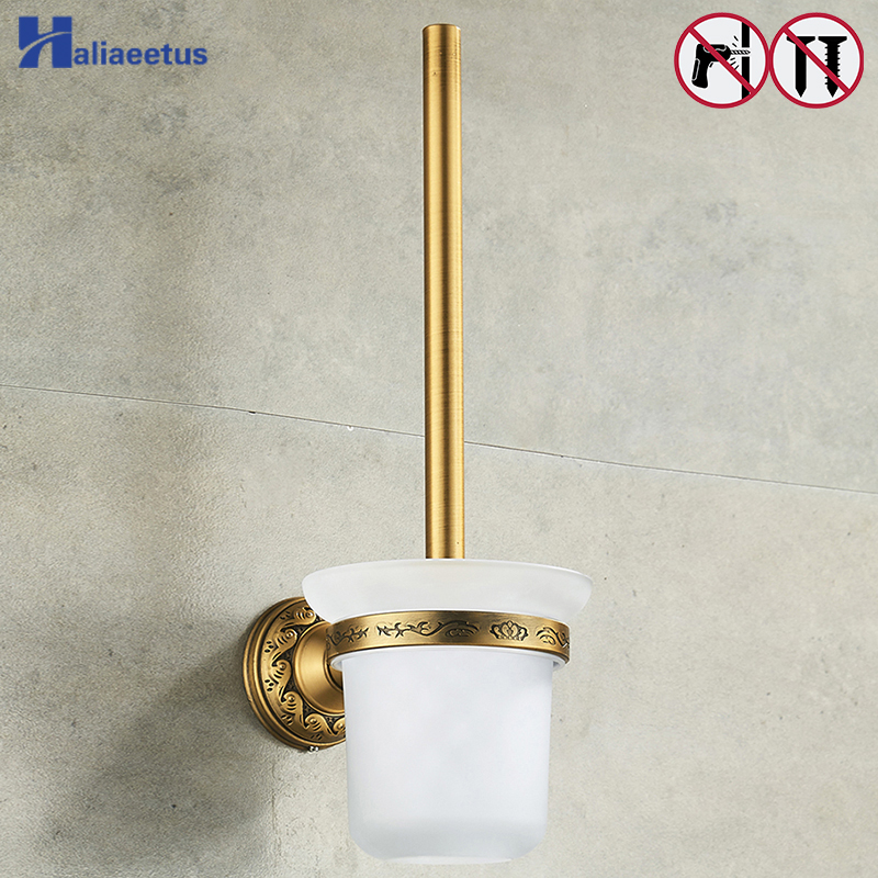 Nail Free Toilet Brush Holders Antique Bronze Bathroom Accessories