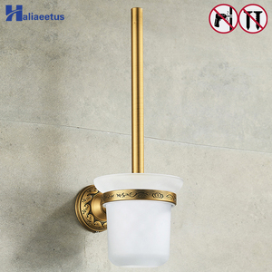 Nail Free Toilet Brush Holders Antique Bronze Bathroom Accessories(China)