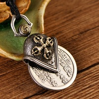 S925 sterling silver mountain ghost thunder gossip copper coin man's pendant transshipment vajra pendant