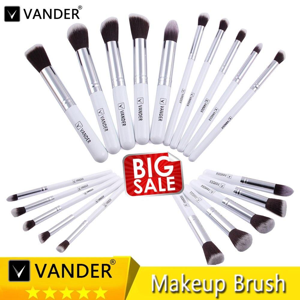 (10 pieces/set) Vander Professional Makeup Brush Sets Foundation Cosmetics Powder Lipstick Tools MULTIPURPOSE Beauty Brushes