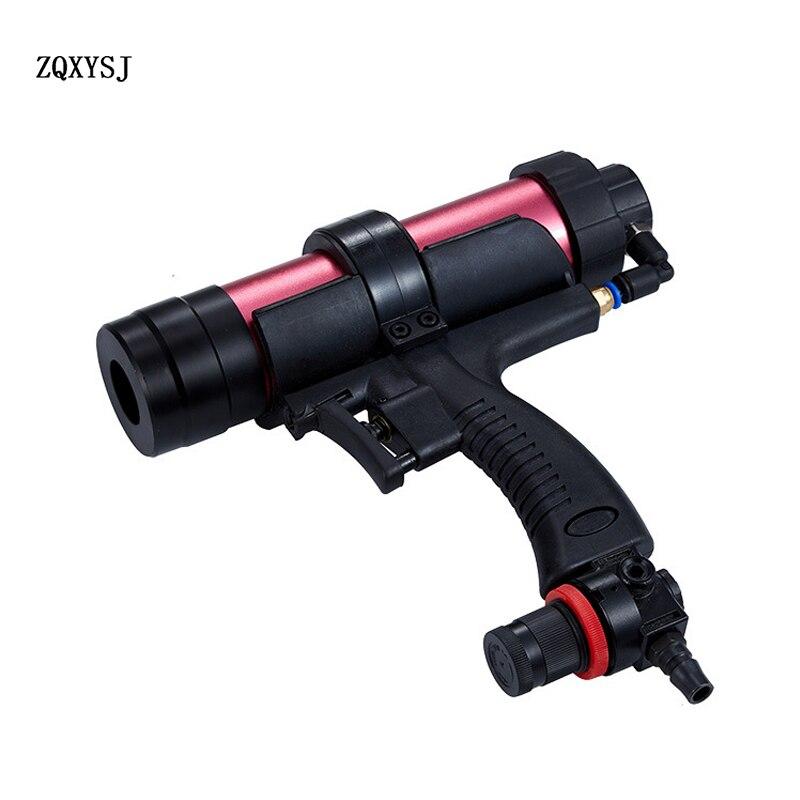 Pneumatic soft glue gun pressure glass glue gun can speed adjustable caulking gun