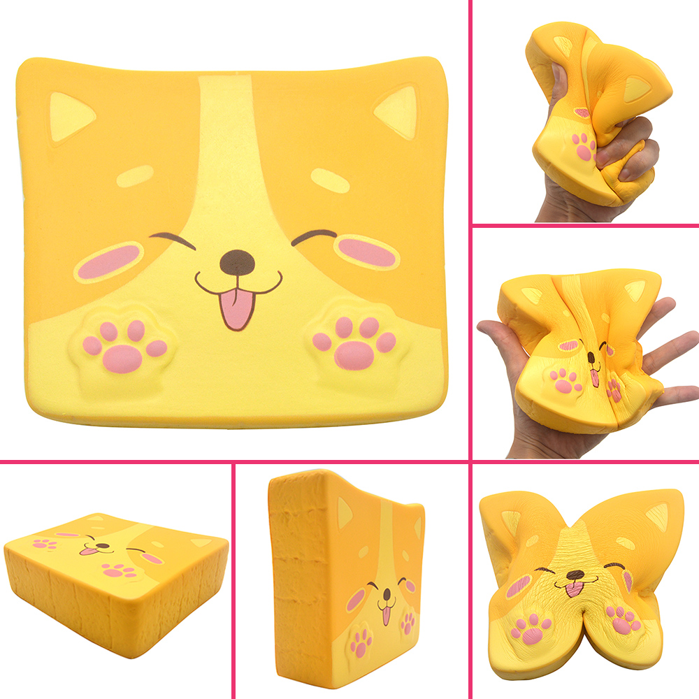 Kiibru Slow Rising Squishy Shiba Inu Toast Scented Bread Cute Dog Soft Pressure Relief Hand Pillow Gift Toy Original Package 1PC