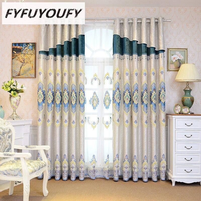 Європейські розкішні вишиті штори - Домашній текстиль