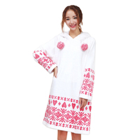 Quality winter thick flannel hooded women nightgown keep warm night dress plus size long sleeve homewear sleep indoor for women