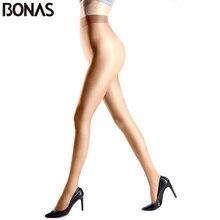 BONAS 6 unidades/juego de mallas de talla grande 15D para mujer, de Color sólido medias de nailon, medias sin fisuras de alta elasticidad