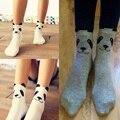 Divertido Personaje Algodón Marca Meias Femininas Caliente Lindo Panda de la Historieta Calcetines Coreanos para Las Mujeres 2016 de La Manera Nuevo Estilo