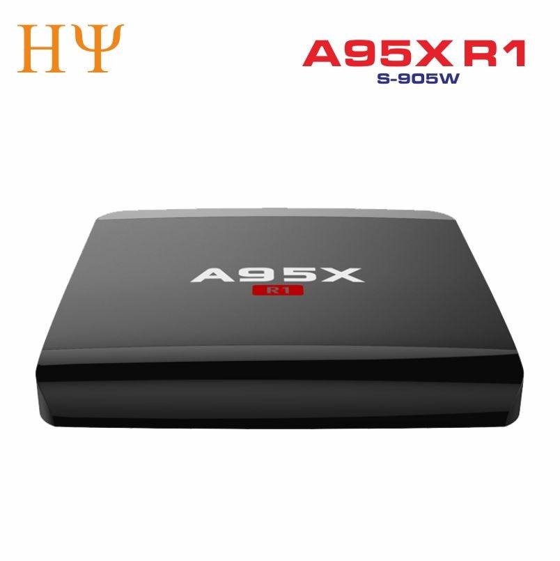 A95X R1 Android 7.1 tv box mini PC médias jouer avec Amlogic S905W 1 GB RAM 8 GB ROM WIFI KD 17.3